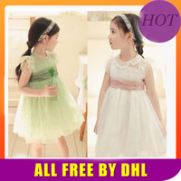 Wholesale 2014 New Baby Clothes Baby Girls Wedding Dress Cute Baby Girl clothes baby Girl Party Dress Girl Dress Design for Kids dress laceTutu Skirt