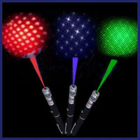 Wholesale 5mW nm Red Green Blue violet Light in Beam Laser Pointer Pen With Star Cap Efit For SOS Mounting Night Hunting Teaching Xmas Gifts
