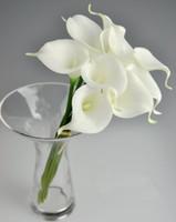 Wholesale 100pcs cm Elegant Silicon Artificial Simulation Egyptian Calla Lily Alocasia Plumbea Flower for Wedding Bridal centerpieces Decorations