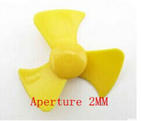 Wholesale Propeller paddle fan leaf clover yellow propeller technology model small production aperture MM