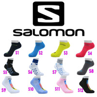Wholesale Salomon Men And Women Socks Long And Short Styles Breathable Athletic Socks Top Quality Men Sport Cotton Socks Pair