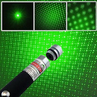 Wholesale DHL Hot mW nm Red Green Blue violet Light in Beam Laser Pointer Pen With Star Cap For SOS Mounting Night Hunting Teaching Xmas Gifts