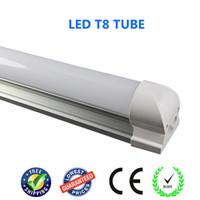T8 24W SMD2835 Integrated T8 LED tube light 1500mm 24W 150cm 1.5m 5feet led fluorescent light Milk cover Transparent cover 85-265V bulb lamp lighting