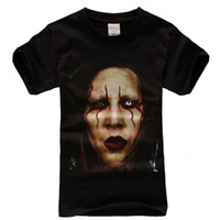 Men Polo Short HOT SELLING Very Rare Marilyn Manson Face Gothic Rock T-shirt For Men, Casual t shirt New Without Tag S M L XL XXL