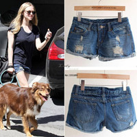 Jeans Women Bootcut 2014 New Retro Women's Ladies Ripped Cuffs Hole Jeans Shorts Denim Jeans casual Fashion Vintage Shorts b4 SV003062