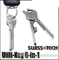 Wholesale OEM SWISS TECH Utili Key In Mini Multitool Keyring Pocket Knife Folding Knife Survival Knife