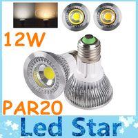 cob led - New PAR20 E27 E26 W Led Spotlights High Bright X12W COB Led Dimmable Bulbs Light Warm Natural Cool White AC V CE ROHS CSA UL