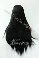 Wholesale New Glueless Front Lace Celebrity Hairstyle quot quot Sliky Straight Natural Color Human Hair Wigs Stock