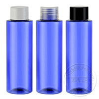 Wholesale R24 ml blue round cosmetic plastic bottles and containers pc