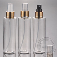 Plastic Refillable Bottles Yes FREE SHIPPING 150ML(50pc lot) electrochemical aluminum bright gold spray pump plastic transparent bottle for cosmetic package
