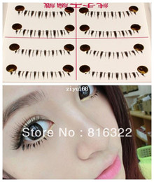 Wholesale 10 Pairs Natural Under Lower Eye Lashes Bottom Fake False Eyelashes Makeup