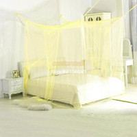 Plush Fabric Cotton Column Four Corner Point Bug Insect Mosquito Net,Large Bed Canopy,size:190cm Wx 210cm Lx 240cmH #005 OS00045