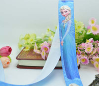 Sewing Machine Accessories printed grosgrain ribbon - 50 yards Frozen princess ice Romance printed ribbon packing DIY cartoon polyester grosgrain ribbon grosgrain ribbons DIY material
