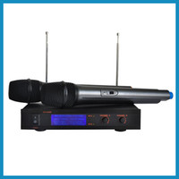 VHF 190~260MHz professional karaoke system - GR High quality Dual Channel cheap professional ktv karaoke VHF Wireless Microphone system