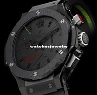 al por mayor relojes rattrapante-el envío al por mayor-Libre! Reloj del reloj Limted Edición Rattrapante Ayrton Senna Todos los negros de los hombres automáticos