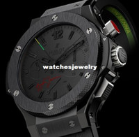 Wholesale Limted Edition Rattrapante Ayrton Senna All Black Automatic Men s Watch Wristwatch