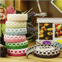 Wholesale 8798 Korean stationery DIY decorative stickers Bulei Si cotton tape lace color printing stickers
