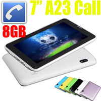 Wholesale 7 Inch Phonepad Tablet Phablet G GSM Android unlocked Phone tablet Pc Calling GB MB Allwinner A23 Ghz Wifi camera points