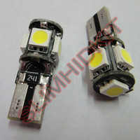 Wholesale 50pcs white smd High Power t10 led canbus Wedge Car Bulbs for Side Lights reading lights t10 led wedge bulb