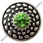 Wholesale B00149 noosa metal mm mini snap button chunk for mm leather bracelet ladies fashion jewelry