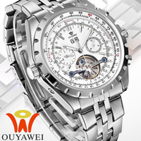 Wholesale new OUYAWEI men military watches mechanical hand wind clock relogio masculino men full steel watches luxury brand self wind