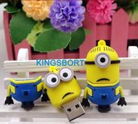 Wholesale Hot Sale GB GB GB GB Minions Cartoon USB Drive USB Flash Drive Memory Cute MINI Pendrive with best price FREE DHL
