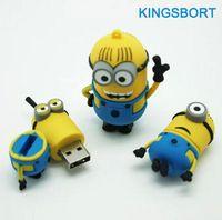 Wholesale Hot Sale GB GB GB GB Minions USB Flash Drives USB Cartoon USB Drive Memory Cute USB Drives with best price FREE DHL