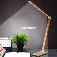 Wholesale Foldable Metal Reading Dimmer Bright LEDs Desk Lamp Table Lighting Toughened Glass Base Power Night Vision Led Lamp AC V