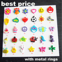 Wholesale PVC pendant charms rainbow loom DIY materials small pendant rubber loom band bracelet knitting accessories