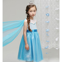 New arrivals Girls Dresses Frozen Children Cartoon Elsa&...