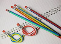 Wholesale Fun Fashion Favor Colorful Magic Bendy Flexible Soft Pencil With Eraser For Kids Writing High Quality