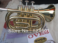 Yes Bb Yellow Brass wholesale The inventory Bb pocket trumpet appearance golden brown