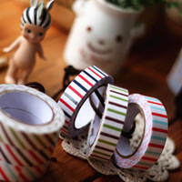 Wholesale 8775 stationery excellent Pai British style multifunction vertical stripes twill cloth tape decorative tape