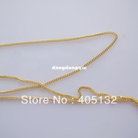 Wholesale MDA meters bag Gold Chain Shape Metal Nail Decoration Lovely Outlooking Nail Art Decorations