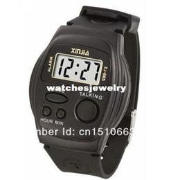 Wholesale-New 2014 Men and Women Multifunctional Talking Watch Speak English blind Electronic Sports Watches