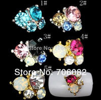 Wholesale New D Nail Art Tools Colored Stones Crystal Rhinestone For Nais Alloy Nail Art Glitters DIY Decoration Color