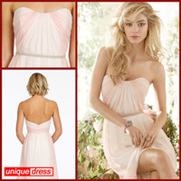 Wholesale Cheap Bridesmaid Dresses Short A Line Sweetheart Knee Length Zip Back Ruffles Prom Dresses Low Price party dresses