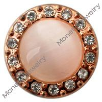 Wholesale D00408 newest design rhinestone noosa chunk snap button for leather bracelet