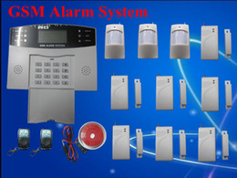 Wholesale Home Alarm System GSM SMS Burglar Security Alarm System Wireless LCD Screen Detector Sensor Kit
