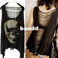 Women Polo Tops New 2014 Brand Women T-shirts,Punk Skull Printed T-shirt,Desigual Casual Pullovers Women Clothing
