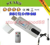 Analog TV Stick   50PCS USB DVB-T2 with PVR USB Set Top TV Box good dvb t2 MP3 MP4 TV Stick DVB-C DVB-T T2 FM DAB