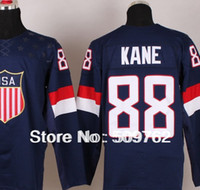 Men Three Quarter Jerseys 2014 Olympic USA Hockey Jersey wholesale #88 Sidney Crosby Jerseys etc MixOrder Customized FreeShip by DHL just 4days