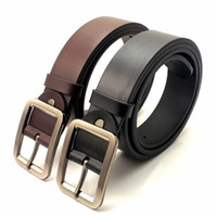 Wholesale New Mens Genuine Real Leather fashion Belt for men Alloy Buckle colors cowskin split leather Cintos cinturon QY116