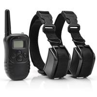 Impermeabile ricaricabile del collare del cane Pet Products scossa di addestramento Vibrazione LCD distanza per 2 cani 300m 100LV per cani animali complessivi H10843