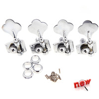 Wholesale 4 set Silver String Tuning Pegs With Mounting Screws and Ferrules Machine Heads Tuners For Bass Musical Instrument Parts I307