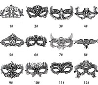Wholesale Women Men Unisex Adults Laser Cut Metal Mask Prom Masks Glitter Masquerade Venetian Costume Mask With Rhinestone Crytstal Decorated