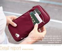 Wholesale Paper bag zero wallet multi purpose hand bag passport bag id wallet colors