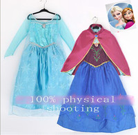 TuTu Summer tutu dress 9%off!IN STOCK!hot sale!High grade!Fashion!Lovely!2014 New! frozen elsa anna! girls dress + cape! Dress! Costumes!!DROP SHIPPING!5pcs lot,DM