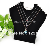 Wholesale Hight Quality New Black Velvet Necklace Easel Showcase Holder Jewelry Display Stand JDB