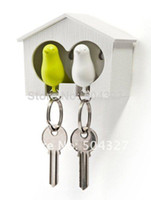 Wholesale Fr Sparrow Key Ring with Birdhouse Keychaee Shipping Sets DUO Sparrow Key Ring with Birdhouse Keychain Gadget for Home Decoration